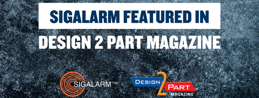 Sigalarm Featured in Design 2 Part Magazine